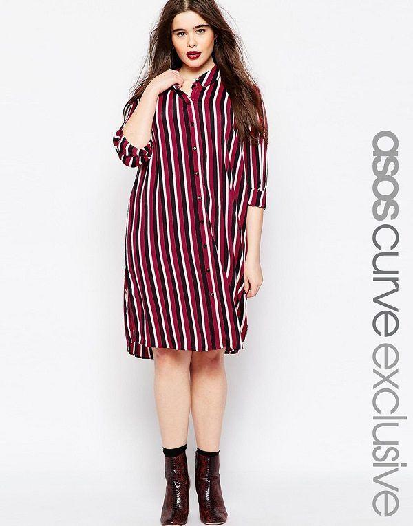 vestidos-para-gorditas-rayas-rojas-negras-blancas