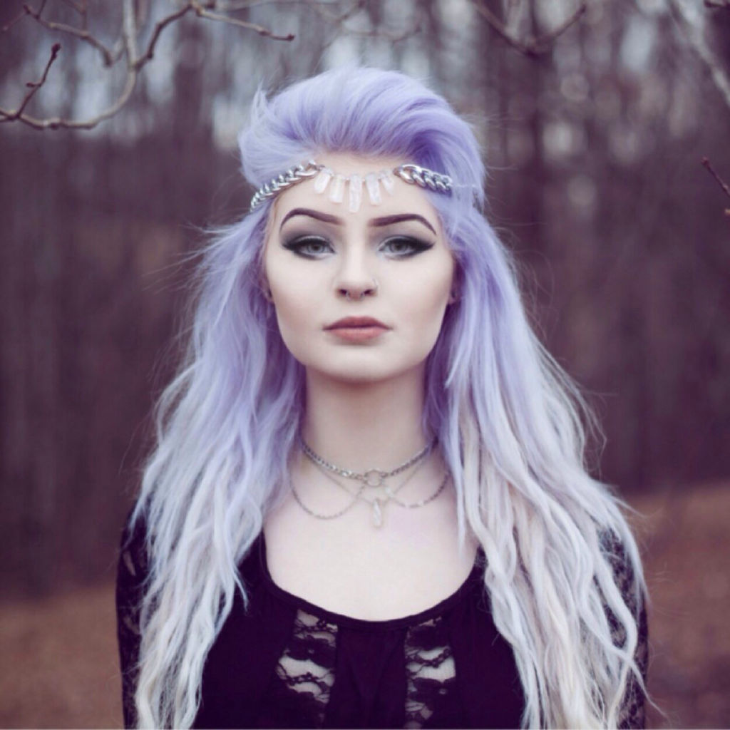 Girls With Light Purple Hair Tumblr Cabello decolor...