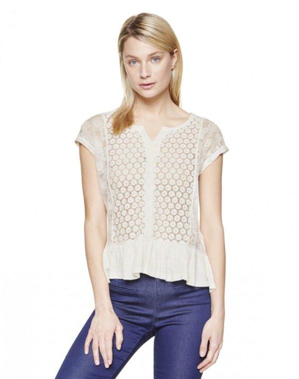 camisas-mujer-2016-tendencias-primavera-verano-benetton-blusa-encaje