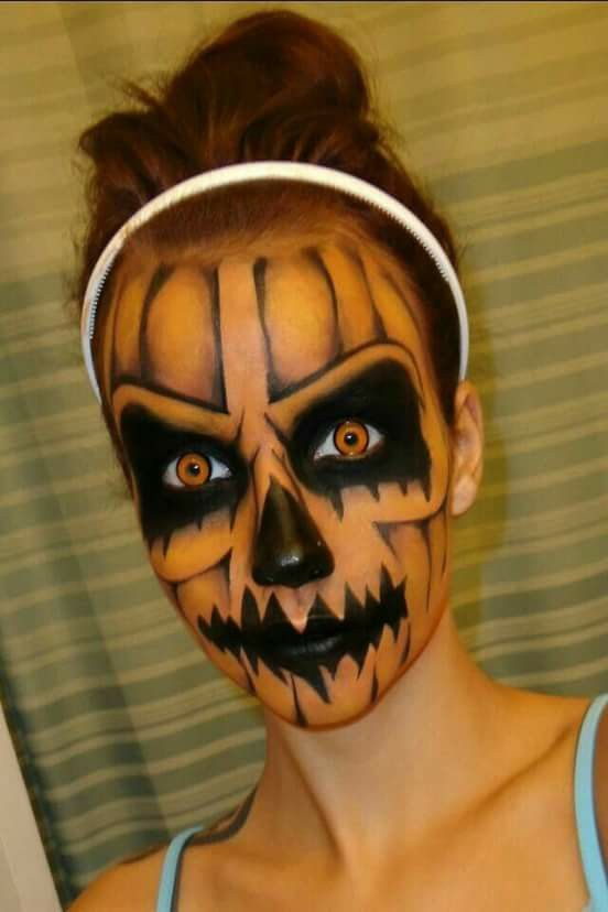 Makeup-halloween-pumpkin