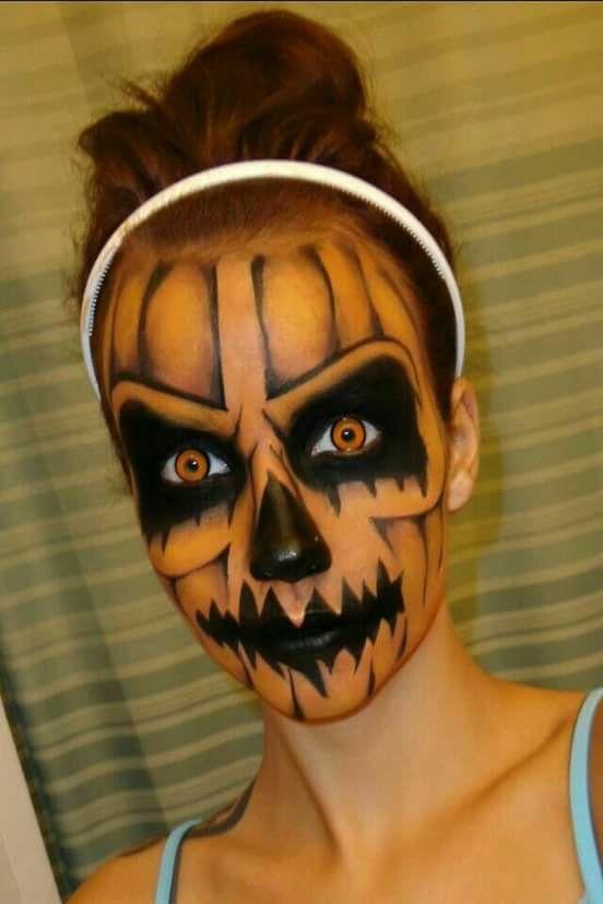 maquillaje-halloween-calabaza