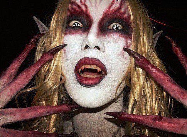 maquillaje-halloween-diabla-unas