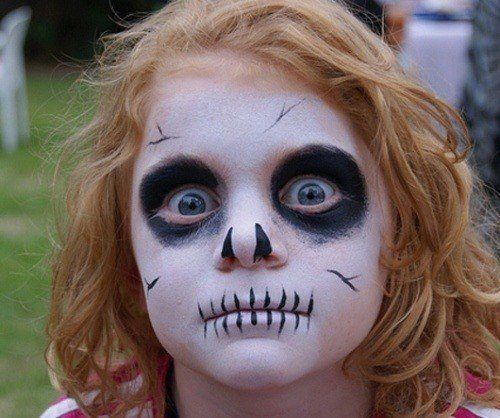 Makeup-halloween-skeleton-for-children-girl
