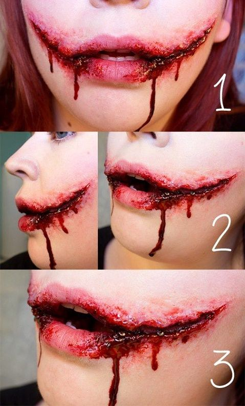 Makeup-halloween-wounds-smile-clown