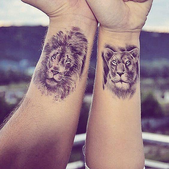 fotos de tatuajes de le n y leona para mujer cu l es el. Black Bedroom Furniture Sets. Home Design Ideas