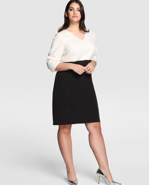 los-vestidos-de-fiesta-tallas-grandes-asos-curve-bicolor-negro-blanco