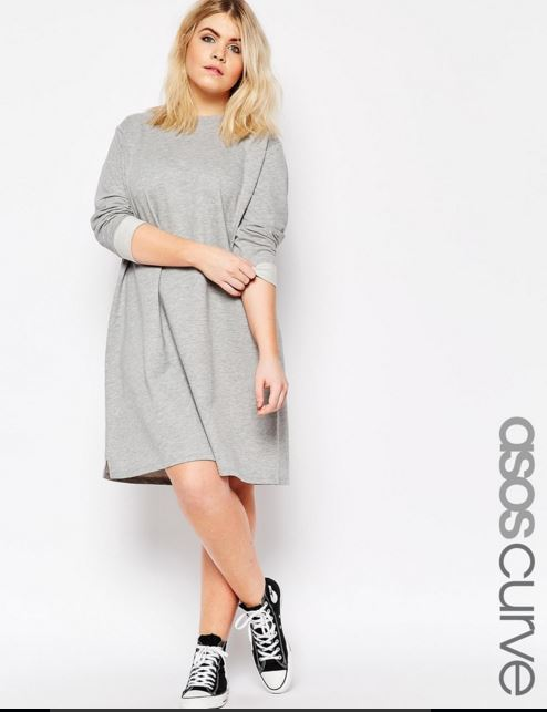 vestidos-para-gorditas-gris-corto