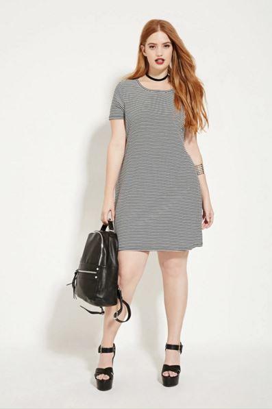 vestidos-para-gorditas-rayas-pequeñas