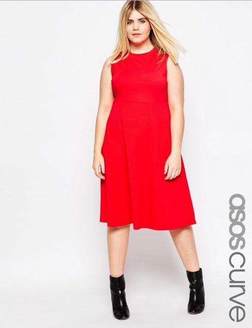 vestidos-para-gorditas-rojo-intenso