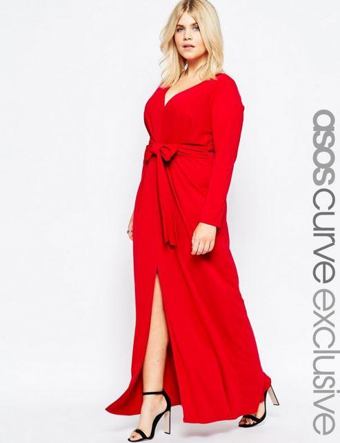 vestidos-para-gorditas-rojo-largo