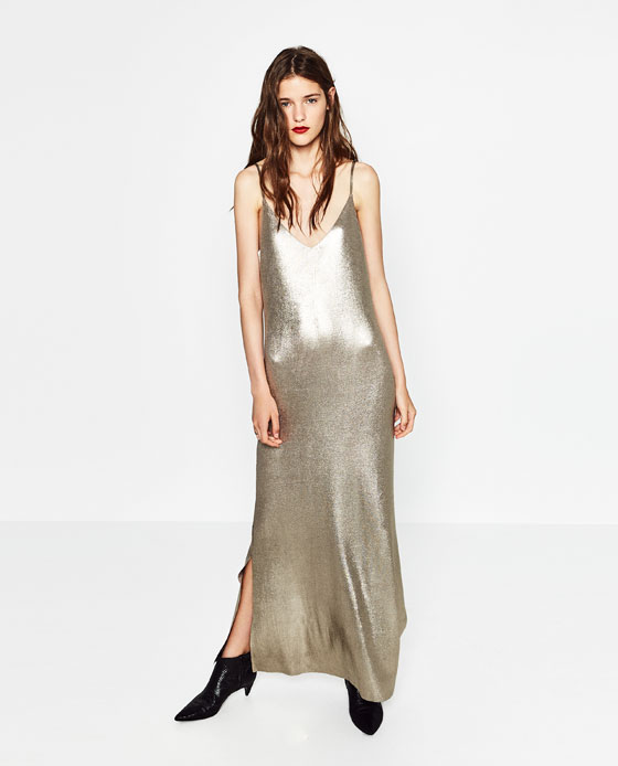 vestidos-fiesta-otono-invierno-2016-2017-vestido-largo-zara-brillante