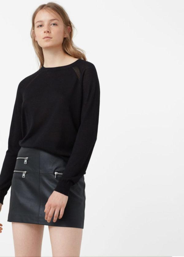 catalogo-mango-para-mujer-otono-invierno-2016-2017-falda-cuero