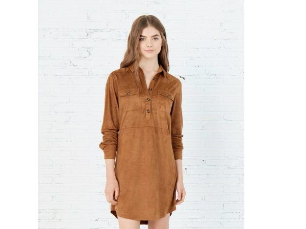 catalogo-springfield-otono-invierno-2016-vestido-ante-marron