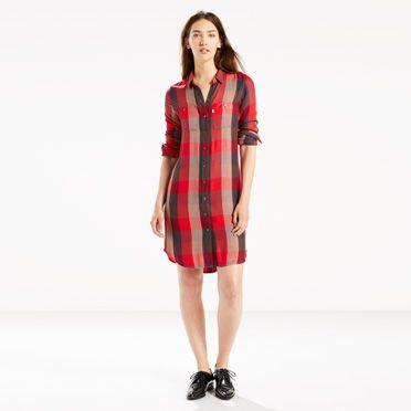 rebajas-levis-de-invierno-para-mujer-vestidos-a-cuadros