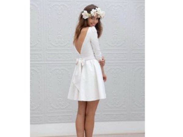 Vestidos de novia civil cortos