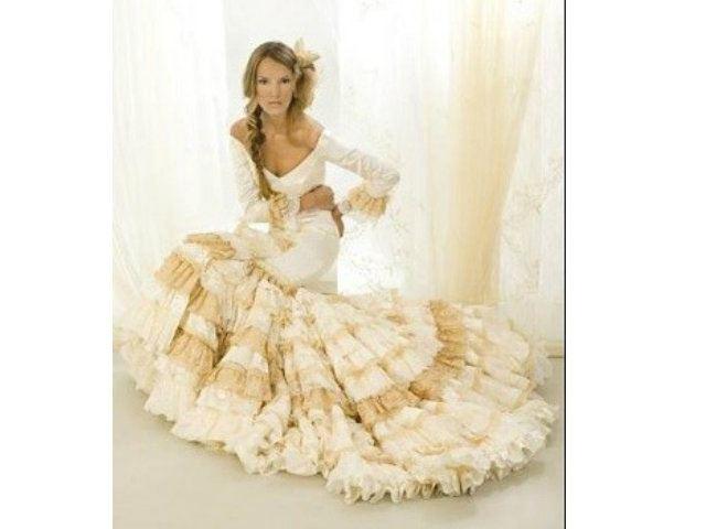 Excelente Vestido De Novia Gitana Ideas Ornamento Elaboración ...