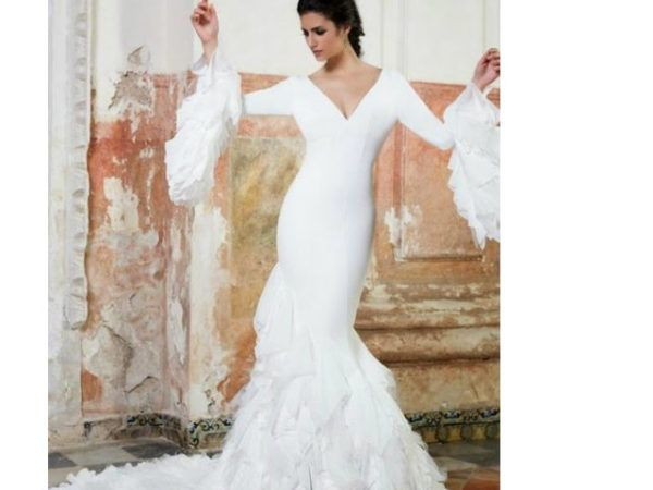vestidos de novia flamencos primavera verano 2019 - modaellas