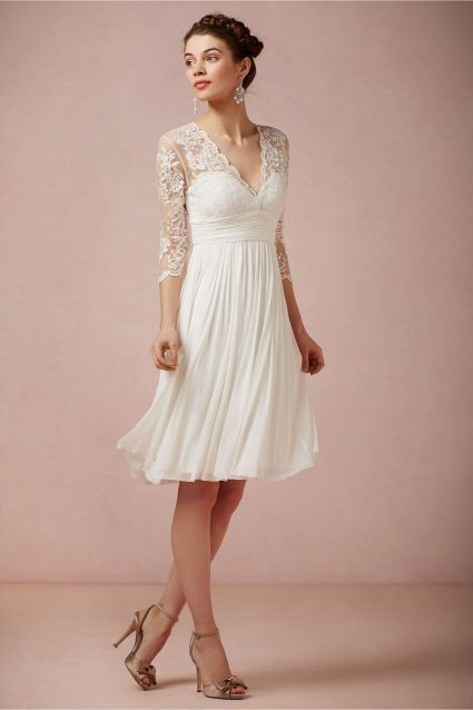 vestidos de novia para boda civil primavera verano 2019 - modaellas