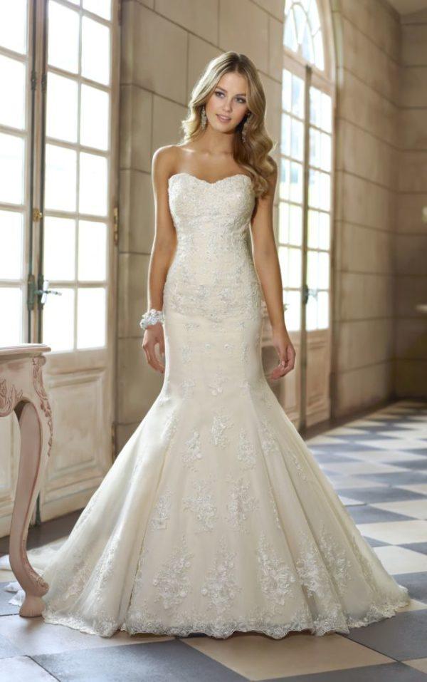 Vestidos de novia corte sirena primavera verano 2018 for Wedding dress color meanings