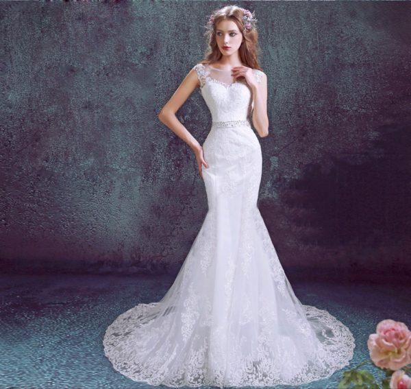 vestidos-de-novia-corte-sirena-estilo-romantico