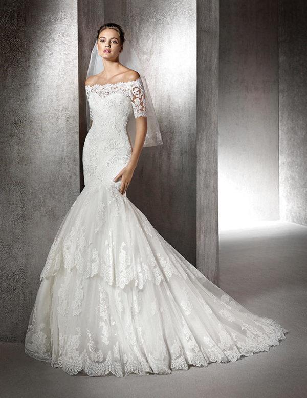 vestidos-de-novia-corte-sirena-volantes-con-encaje