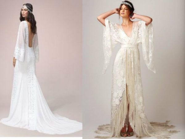 vestidos de novia hippies primavera verano 2019 - modaellas