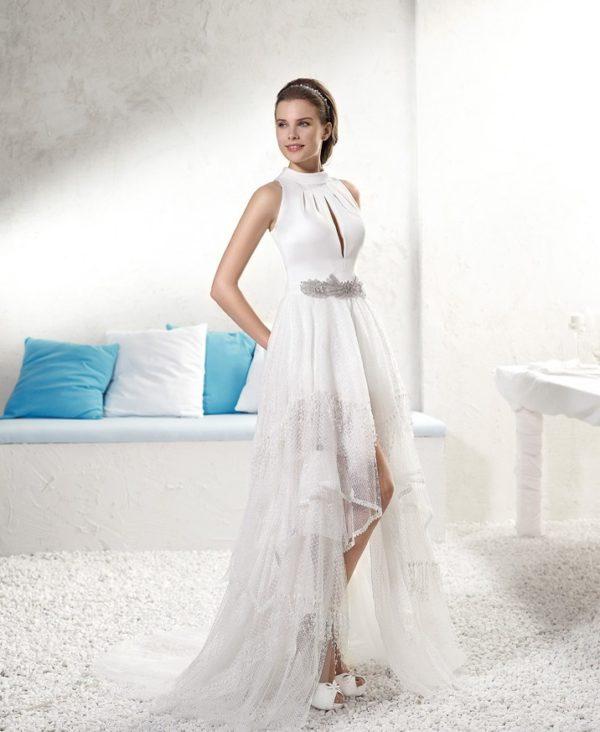 vestidos de novia ibicencos otoo invierno u corto por delante