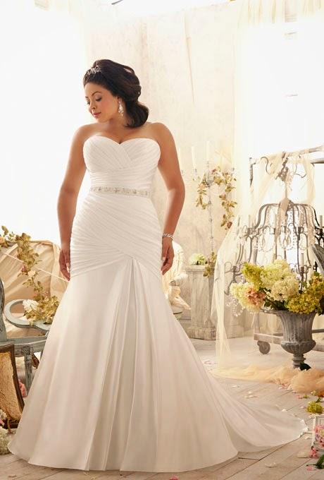 Vestidos de novia ajustados para gorditas