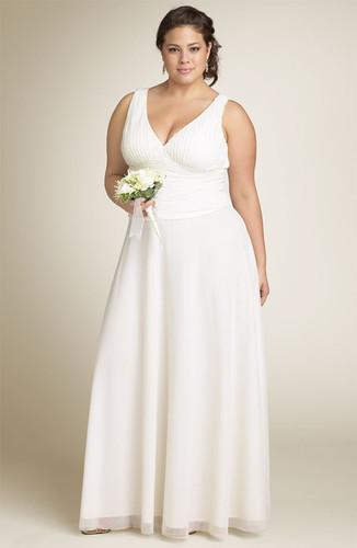 Vestidos de matrimonio civil para gorditas