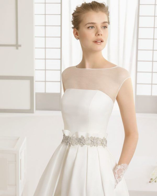 Vestidos de novia de dia sencillos cortos