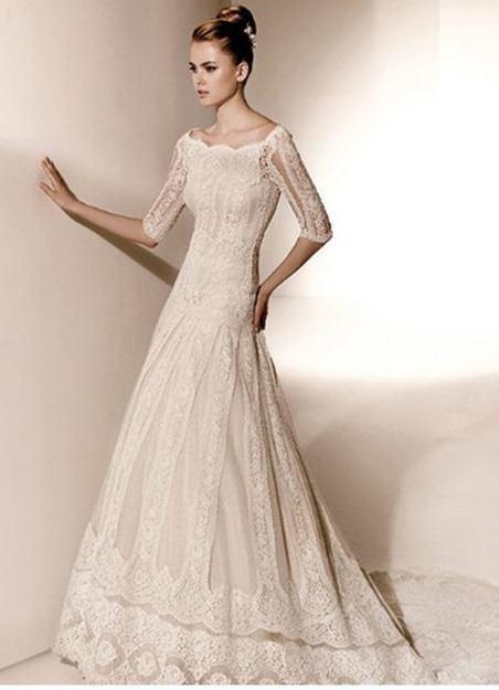 vestidos-de-novia-vintage-tres-cuartos