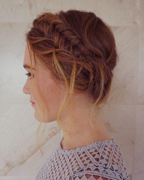 Peinados con trenzas para cabello recogido
