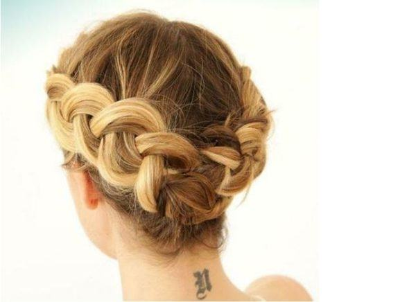 Trenzas de moda cabello recogido
