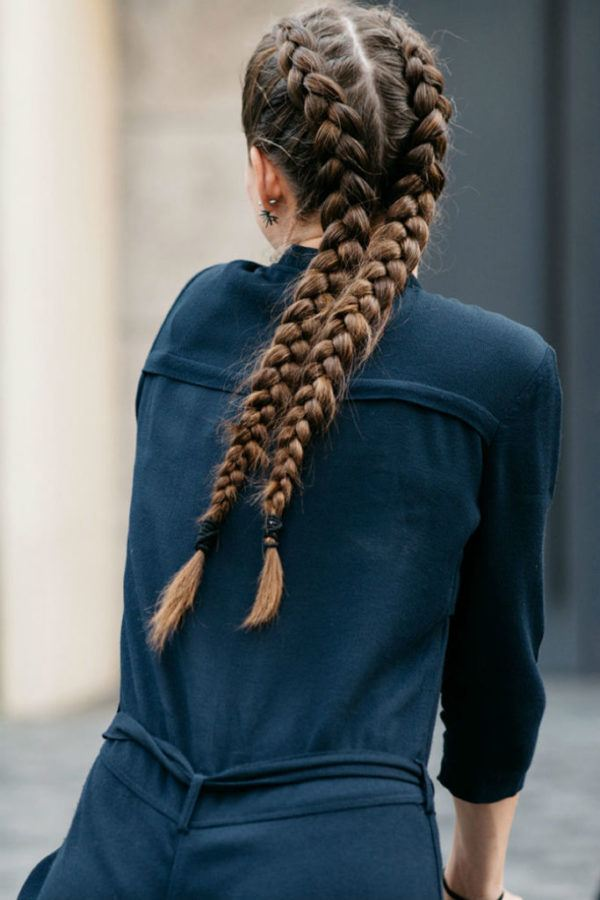 peinados con trenzas pelo largo trenza boxeo - Trenzas Pelo Largo