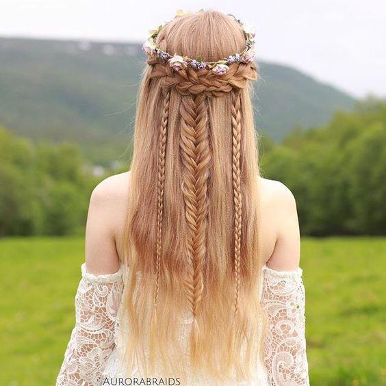 peinados con trenzas pelo largo trenza vikinga - Trenzas Pelo Largo