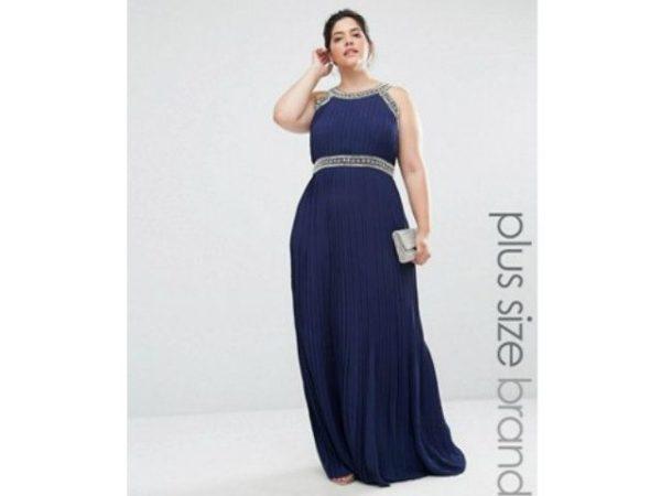 vestidos-de-fiesta-para-gorditas-asos-azul-marino-plisado