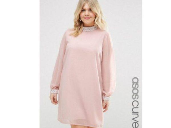 vestidos-de-fiesta-para-gorditas-rosa