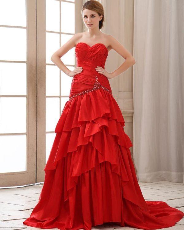 vestidos-de -fiesta-rojos-modaella-volantes