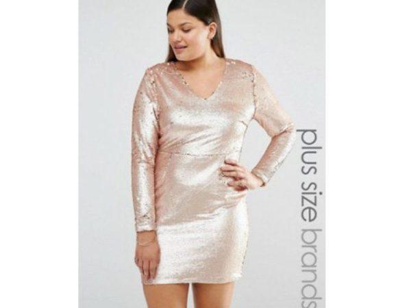 vestidos-de-fiesta-tallas-grandes-asos-rosa-ajustado