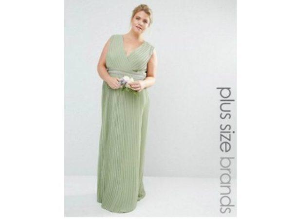 vestidos-de-fiesta-tallas-grandes-asos-verde-plisado