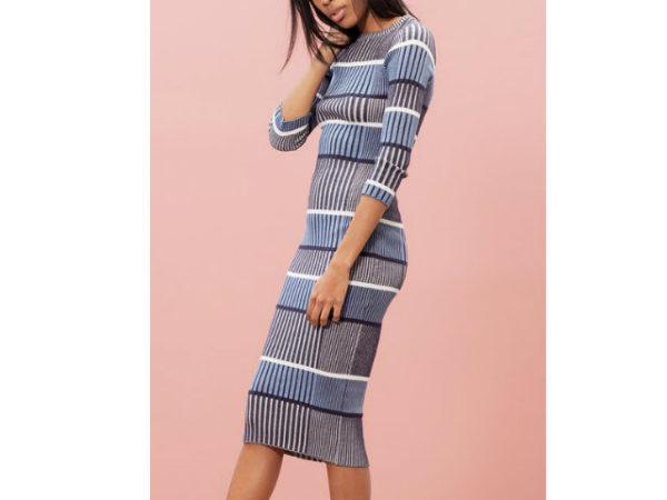 catálogo-stradivarius-vestidos-rayas-azules