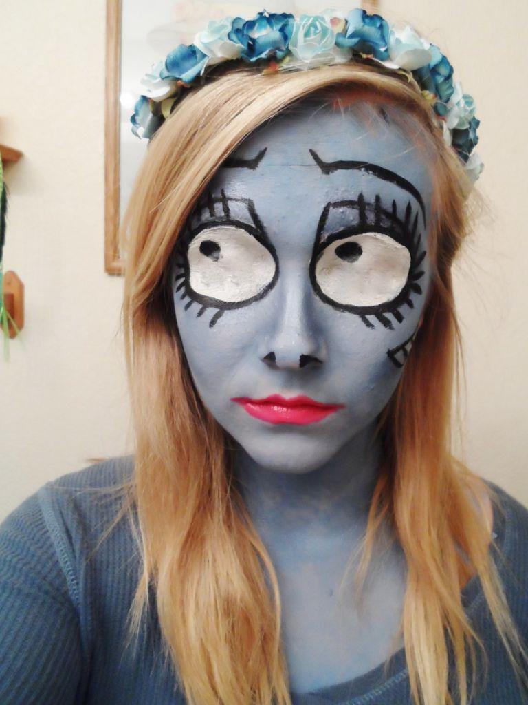 Maquillaje halloween novia cadaver c mo hacerlo paso a for Pinturas de cara para halloween