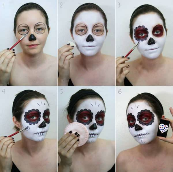Makeup-catrina-halloween-what-is-you-need