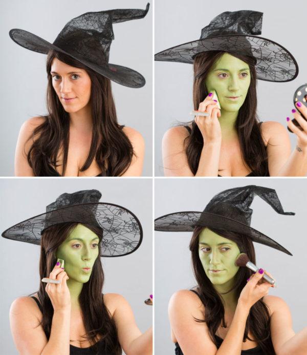 maquillaje de bruja paso a paso