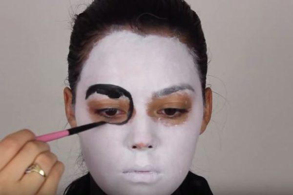 Makeup-halloween-skeleton-step-2