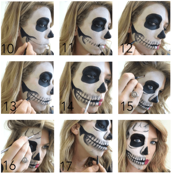 Makeup-halloween-half-face-step-by-step-2