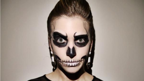 Maquillaje halloween de muerte paso a paso - Pintura cara halloween ...