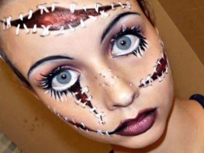 Escalofriante Maquillaje halloween muñeca: cómo hacerlo paso a paso