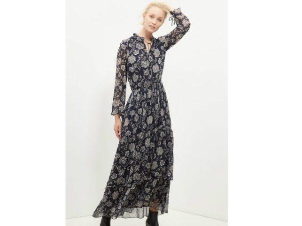vestidos-cortefiel-largo-estampado
