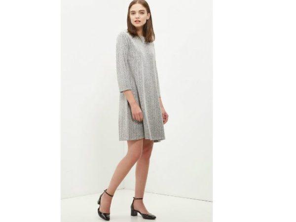 vestidos-cortefiel-manga-francesa-gris